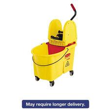 Rubbermaid® Commercial WaveBrake 44 Quart Bucket/Downward Pressure Wringer Combination - Yellow