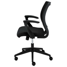 Basyx® VL521 Series Mid-Back Work Chair - Mesh Back - Fabric Seat - Black