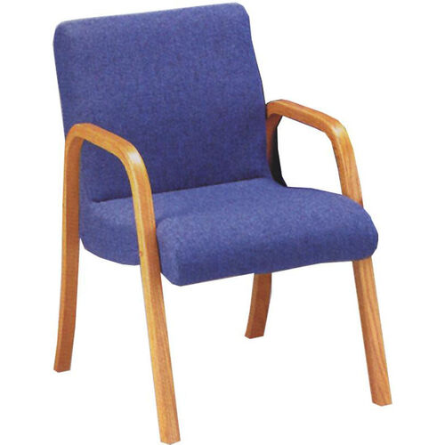 Quick Ship Scoop Arm Chair with Wood Arms