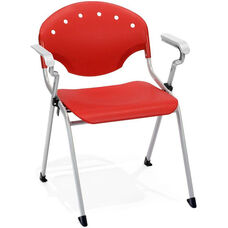 Rico 300lb. Capacity Stack Chair with Arms and 17.50