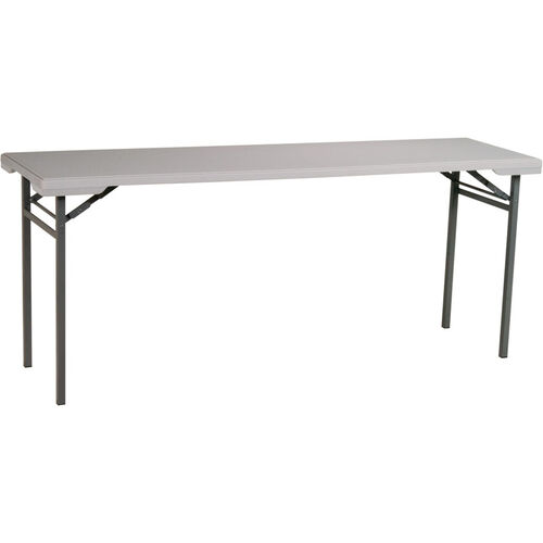 Work Smart Light Weight Resin Multi-Purpose Training Folding Table with Powder Coated Frame