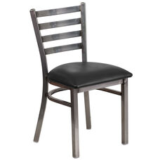 Clear Coated Ladder Back Metal Restaurant Chair
