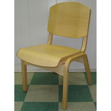 Campus 4 Armless Stacking Guest Chair - Wood Seat