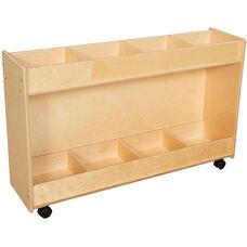 Contender Wooden Book Organizer Storage Unit - Unassembled - 46.75