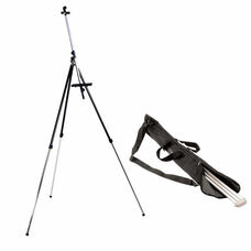 Student Multi Purpose Height Adjustable Field Easel with Carrying Bag - Black