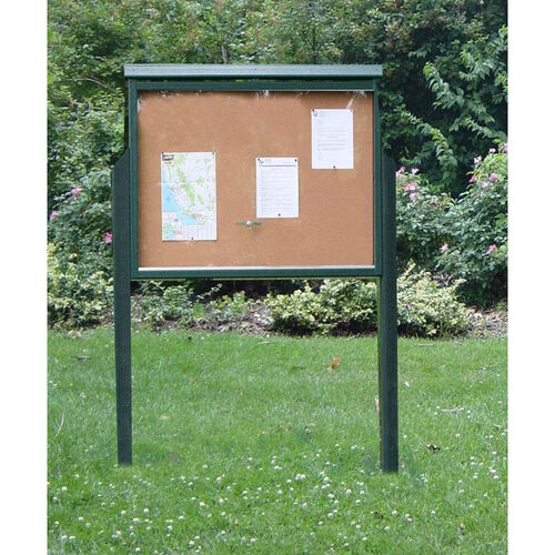 Our Large Two Side Recycled Plastic Message Center with 2 Posts is on sale now.