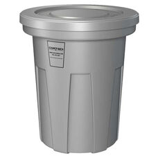 40 Gallon Cobra Flame Retardant Trash Can - Gray