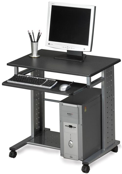 Our Empire Mobile PC Station with Slide Out Keyboard Tray - Anthracite is on sale now.