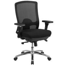 HERCULES Series 24/7 Intensive Use Big & Tall 350 lb. Rated Black Mesh Multifunction Swivel Ergonomic Office Chair