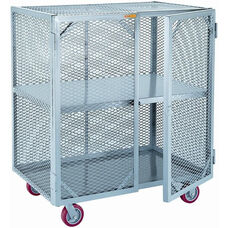 Mobile Storage Locker With 1 Center Shelf