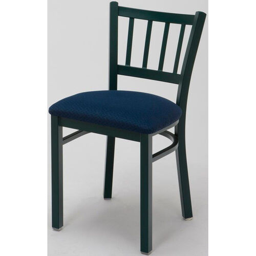 Our 3300 Series Square Steel Frame Armless Cafe Chair with Contoured Slatted Back and Upholstered Seat is on sale now.