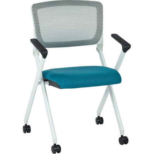 Our Space Pulsar Folding Chair with Breathable Mesh Back and Mesh Fabric Seat - Set of 2 - Blue is on sale now.