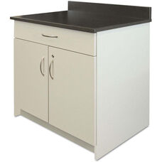 Alera Plus™ Hospitality Base Gray Laminate Cabinet with Two Doors and Drawer - 36
