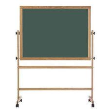 Double-Sided Steel-Rite Chalkboard with Wood Trim - 48