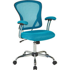 Ave Six Juliana Task Chair with Mesh Seat - Blue