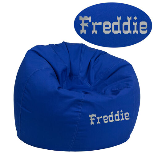 Our Personalized Small Solid Royal Blue Kids Bean Bag Chair is on sale now.
