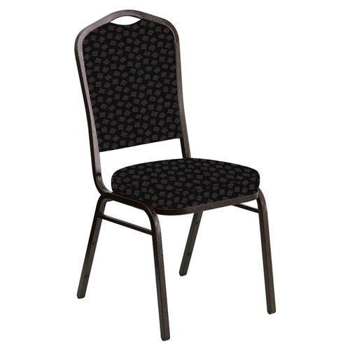 Our Embroidered Crown Back Banquet Chair in Scatter Ferrer Fabric - Gold Vein Frame is on sale now.