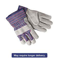 Memphis™ Select Shoulder Split Cow Gloves - Blue/Gray - Large - 12 Pairs