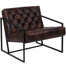 HERCULES Madison Series Bomber Jacket Leather Tufted Lounge Chair