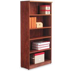 Alera® Valencia Series Bookcase - Five-Shelf - 31 3/4w x 14d x 65h - Medium Cherry