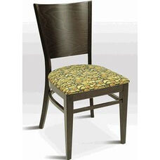 Classic Indoor Collection Beechwood Tapered Solid Back Side Chair