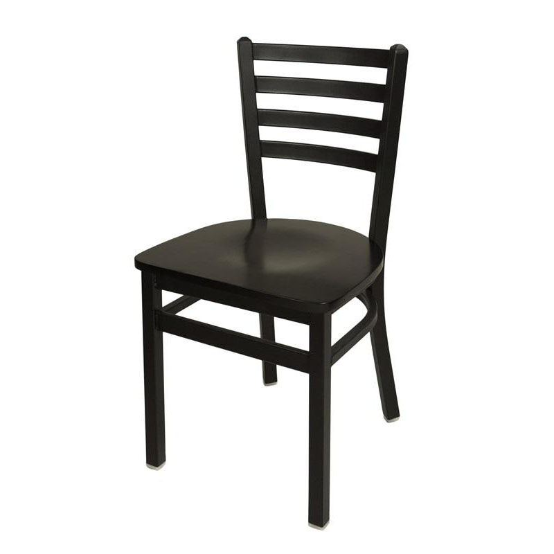 Superbe ... Our Lima Metal Ladder Back Chair   Black Wood Seat Is On Sale Now.
