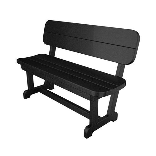 POLYWOOD® Commercial Collection Park Bench - Black