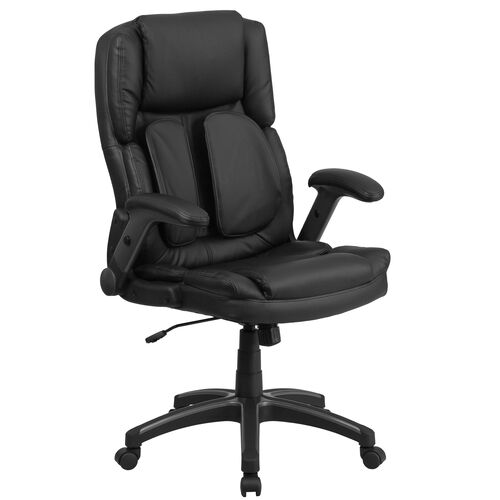 Our Extreme Comfort High Back Black Leather Executive Swivel Ergonomic Office Chair with Flip-Up Arms is on sale now.