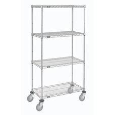 Wire Shelf Stem Caster Truck W/ Polyurethane Wheels W/Brakes - 24