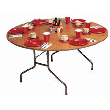 Fixed Height Round High-Pressure .75'' Thick Top Folding Table - 60'' Diameter