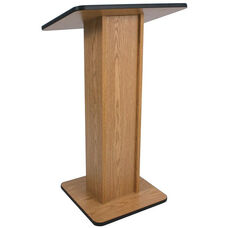 Elite Non-Sound Lectern with Solid Wood Veneer Construction and Easily Moving Glides - 24''W x 14''D x 45''H