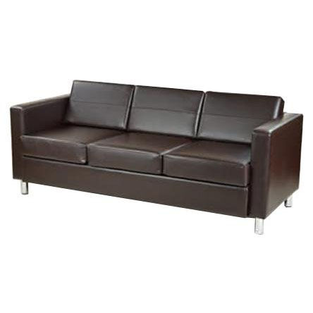 ... Our Ave Six Pacific Faux Leather Sofa With Chrome Finish Legs    Espresso Is On Sale