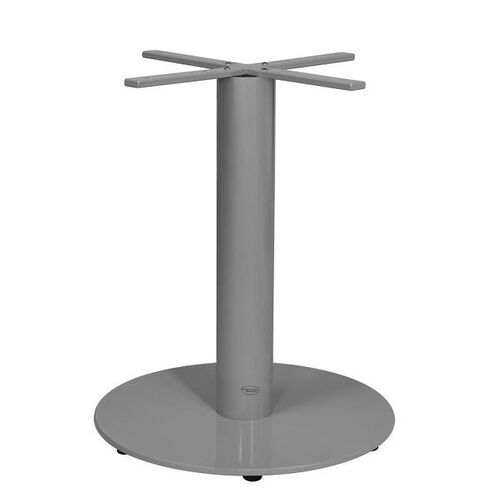 Our Verona Aluminum Dining Table with Large Round Base - Silver Powder Coat is on sale now.