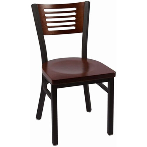 Our Jones River Series Wood Back Armless Chair with Steel Frame and Wood Seat - Walnut is on sale now.