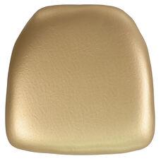 Hard Gold Vinyl Chiavari Chair Cushion