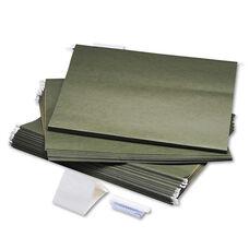 Safco® Hanging File Folders - Compressed Paper Fiber - 18 x 14 - Green - 25/Box