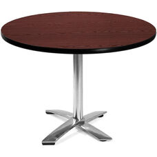42'' Round Flip-Top Multi-Purpose Table - Mahogany