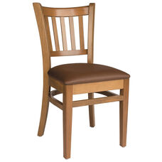 Grill Vertical Back Wood Side Chair - Grade 1 Upholstered Seat