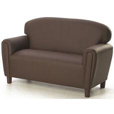 Just Like Home Enviro-Child Preschool Size Sofa - Chocolate - 38