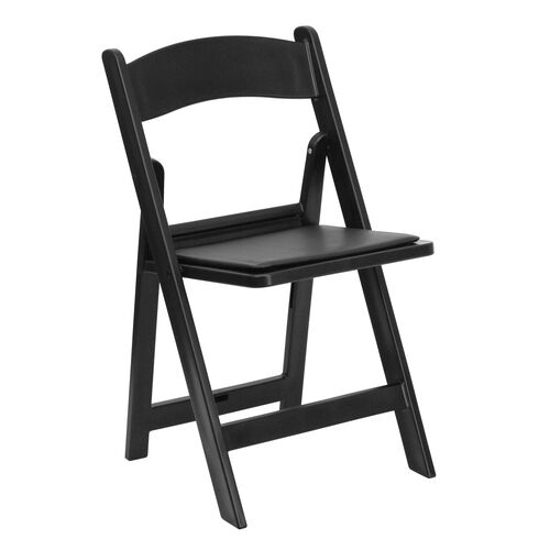 Our HERCULES Series 1000 lb. Capacity Black Resin Folding Chair with Black Vinyl Padded Seat is on sale now.
