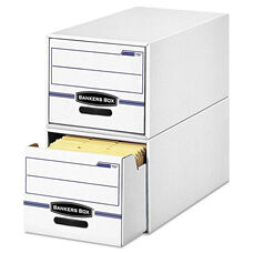 Bankers Box® STOR/DRAWER File Drawer Storage Box - Legal - White/Blue - 6/Carton