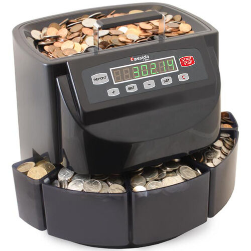 Our C200 Business-Grade Electronic Coin Sorter, Counter, and Wrapper - 300 Coins/Minute is on sale now.
