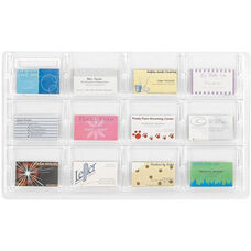 Reveal™ Twelve Business Card Thermoformed Display - Clear