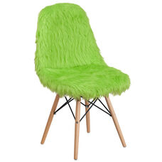 Shaggy Dog Fluorescent Green Accent Chair