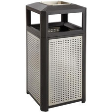 Evos™ 38 Gallon Steel Indoor or Outdoor Trash Receptacle with Ash Tray