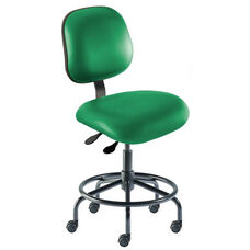 Quick Ship Elite Series Chair Ergonomic Seat and Tubular Steel Base - Low Seat Height