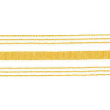 Set of 12 Farm Stripe 18'' x 22'' Cloth Napkin - Gold