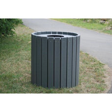 Standard Round 55 Gallon Recycled Plastic Receptacle