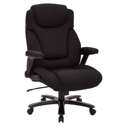 Pro-Line II Big and Tall Deluxe High Back Fabric Executive Office Chair with Padded Flip Arms - 400 lb. Weight Capacity