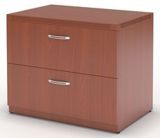 Aberdeen 36'' W x 24'' D x 29.5'' H Freestanding Two Drawer Lateral File - Cherry